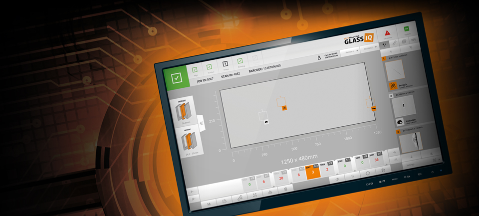 The new design of our automatic glass inspection system - Glass IQ