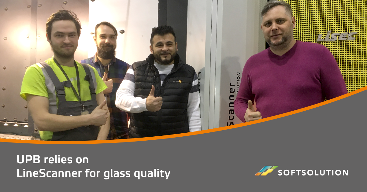 UPB AS STIKLU CENTRS relies on a SOFTSOLUTION LineScanner for glass quality